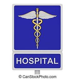 klinikum, straße zeichen