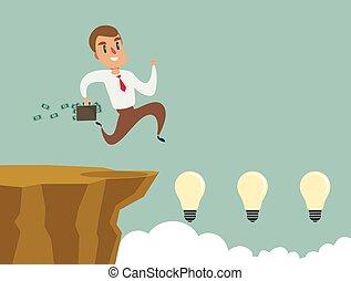 klippenspringen, begriff, success., risiko, kaufleuten zürich, gap., aus