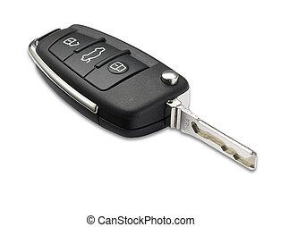 klippning, bil, ytlig, dof, nyckel, bana