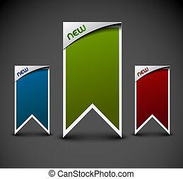 klistermärken, annons, etiketter