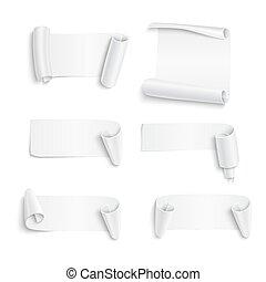 klistermärken, vit, papper, sätta