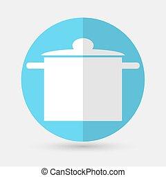 klobouk, vrchní kuchař, a, kuchyně, dále, jeden, běloba grafické pozadí