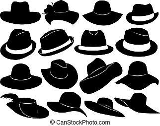 klobouky, ilustrace