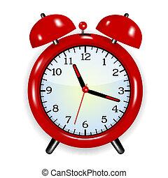 klocka, alarm