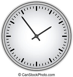 klocka, -, ansikte, vektor, lätt, tid, ändring