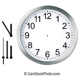 klocka, isolerat, runda