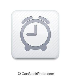 klocka, redigera, eps10., vektor, lätt, vit, icon.