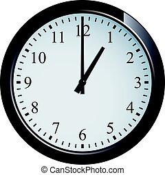 klocka, vägg, sätta, o'clock, 1