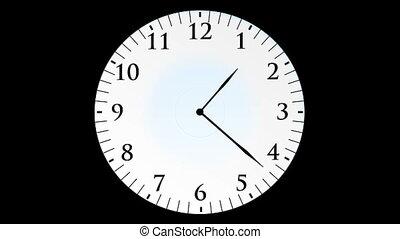 klok, animatie, seconden, zonder, achtergrond, black , tijd,...