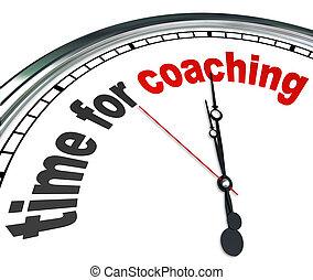 klok, coachend, rol, mentor, leren, tijd, model