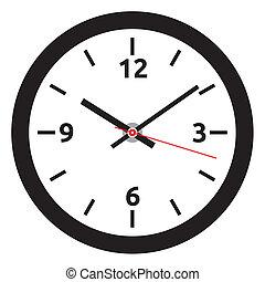 klok, -, gezicht, tim, vector, gemakkelijk, veranderen