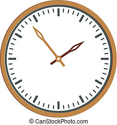 klok, -, gezicht, vector, gemakkelijk, tijd, veranderen