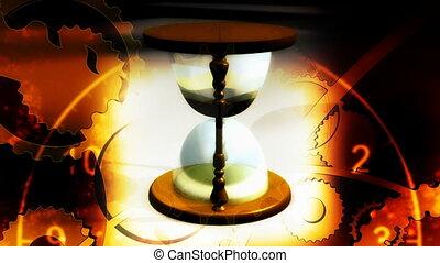 klok, toestellen, lus, hourglass