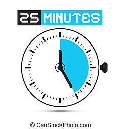 klok, twintig, -, stoppen, illustratie, horloge, vector, vijf, notulen