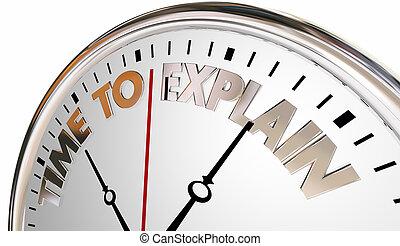 klok, uitleggen, illustratie, begrip, verhogen, tijd, les, aanleren, 3d