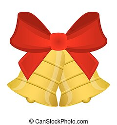 klokken, kerstmis, rode boog