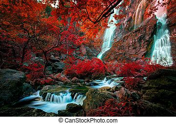 klong, lan, nord, thailandg, chutes, klinimagine, thaïlande, coloré, eau, imaginer