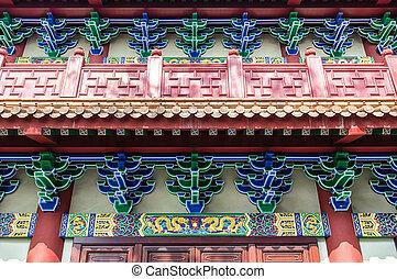 klooster, lin, boeddhist, po, details