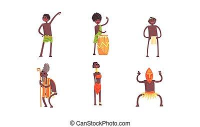 klopfen, trommel, vektor, wodu, tanz, afrikanisch,...