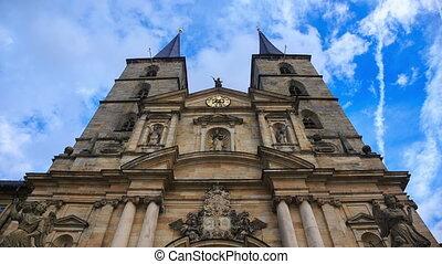 Kloster Michelsberg (Michaelsberg) in Bamberg, Germany with...
