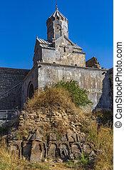kloster, syunik, grenzstein, tatev, armenien