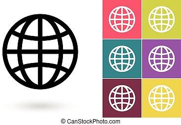 klot, eller, symbol, pictogram