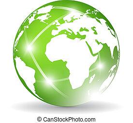 klot, grön