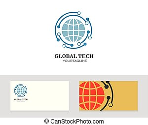 klot, kort, illustration, ikon, vektor, företag, logo