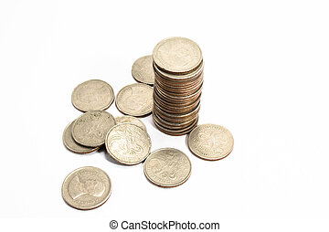 klot, valutor, olika, kollektion, länder