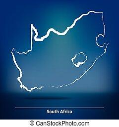 klotter, afrika, syd, karta