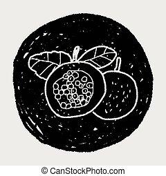 klotter, frukt, passion