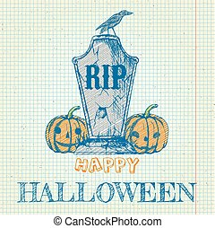 klotter, pumpor, halloween, gravsten