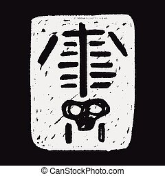 klotter, röntga