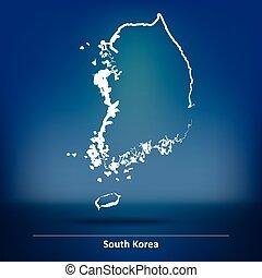 klotter, södra korea, karta