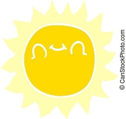 klotter, solsken, tecknad film