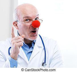 klovn, doktor