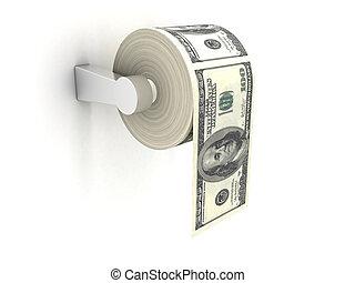 klozetowy papier, kosztowny