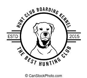 klub, abzeichen, am besten, jagen, etikett