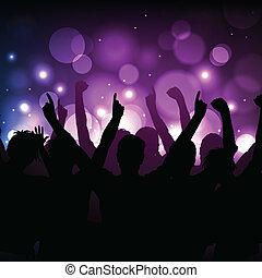 klub, concert, hintergrund, oder