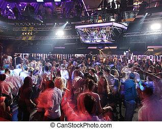 klub, crowd