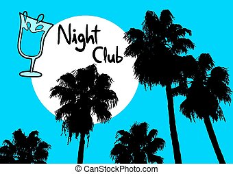 klub, dłoń noc