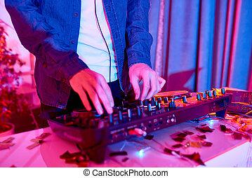 klub, dj, musik, spielende
