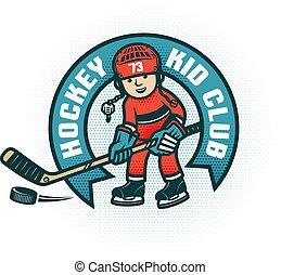 klub, dzieci, hokej, logo