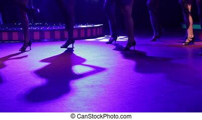klub, dziewczyna, noc, taniec