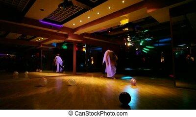 klub, dziewczyny, dwa, taniec