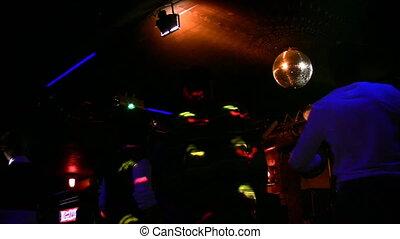 klub, emberek, tánc, éjszaka