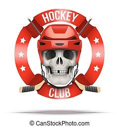 klub, etiketten, eis, hockkey, mannschaft, logo, oder,...