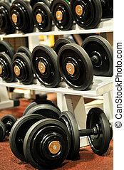 klub, fitness, turnhalle