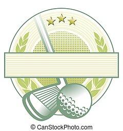 klub, golfen, emblem