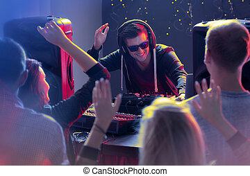 klub, ludzie, taniec